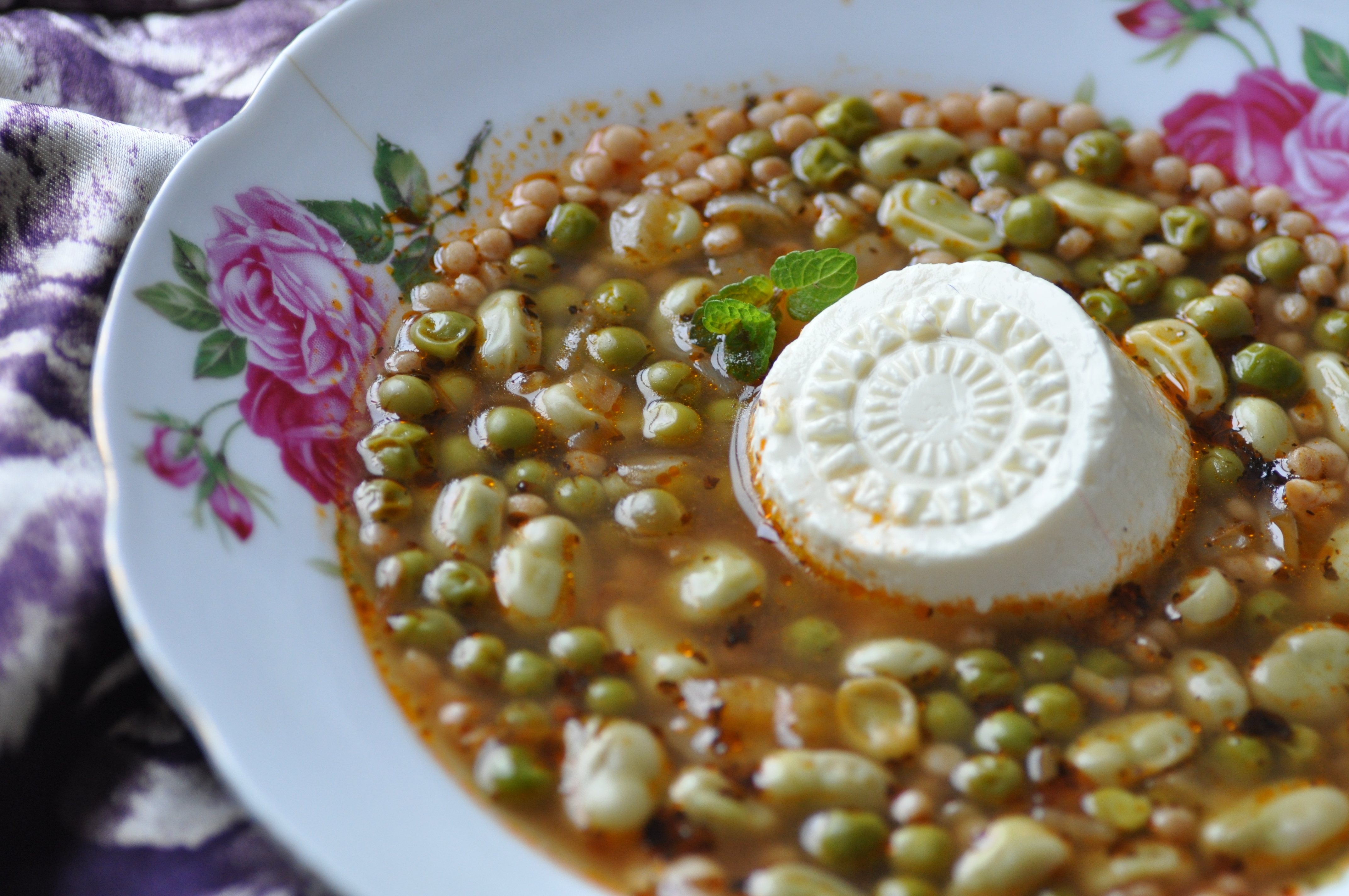 kusksu a traditional maltese soup made with broad beans peas
